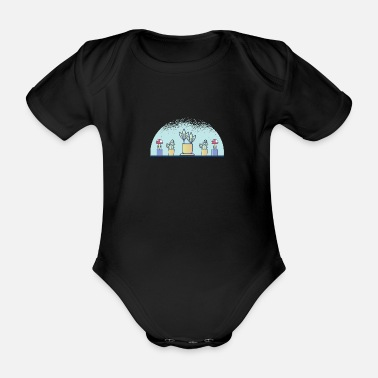 Plant plants - Organic Short-Sleeved Baby Bodysuit