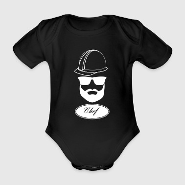 Boss worker with hard hat gift idea 2 - Organic Short-sleeved Baby Bodysuit