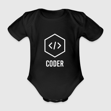 Web Coder brackets - Baby Bio-Kurzarm-Body