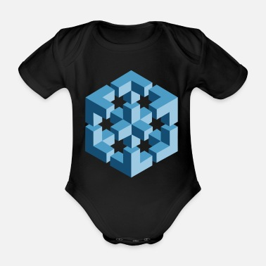 Paradox Paradox (Cube Edition) - Organic Short-sleeved Baby Bodysuit