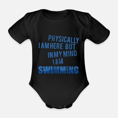 Backstroke Backstroke crawl swim swimmer gift - Organic Short-Sleeved Baby Bodysuit
