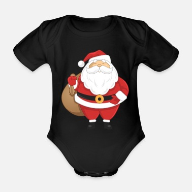 Saint Nick Santa Claus - Organic Short-Sleeved Baby Bodysuit