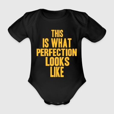 Perfection - Organic Short-sleeved Baby Bodysuit
