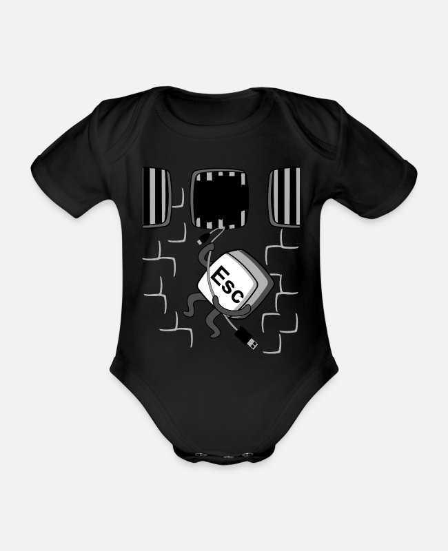 Program (what You Do) Baby Bodysuits - ESC Keyboard Outbreak Funny Joke Gift Geek IT - Organic Short-Sleeved Baby Bodysuit black