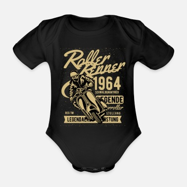 Renner Scooter Renner Legend Gift 1964 Gold - Organic Short-Sleeved Baby Bodysuit