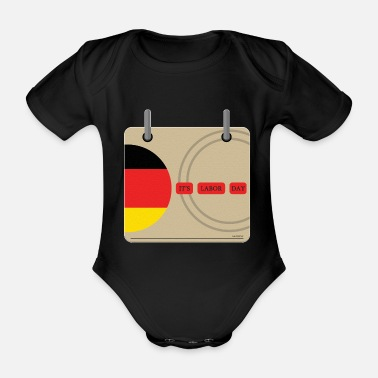 Belgium Labor Day First May Gift Work - Organic Short-Sleeved Baby Bodysuit