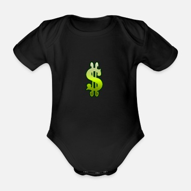 Dollar Sign Dollar sign dollar money - Organic Short-Sleeved Baby Bodysuit