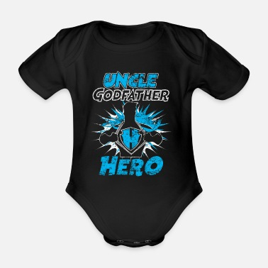 Distressed Uncle Godfather Hero Distressed - Baby Bio Kurzarmbody