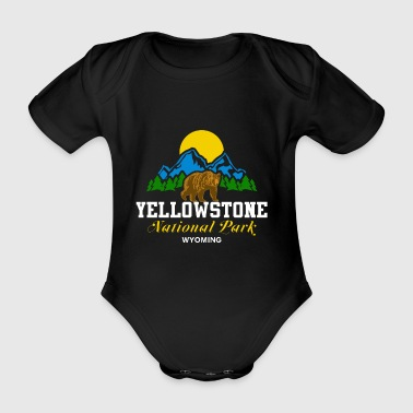 Wyoming Parc national de Yellowstone Wyoming Bear Nature Sun - Body bébé bio manches courtes