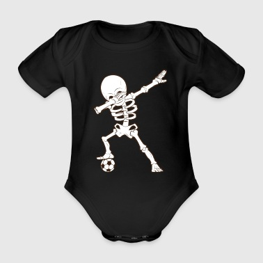 Dabbing Skeleton Soccer T-Shirt Squelette de football - Body bébé bio manches courtes