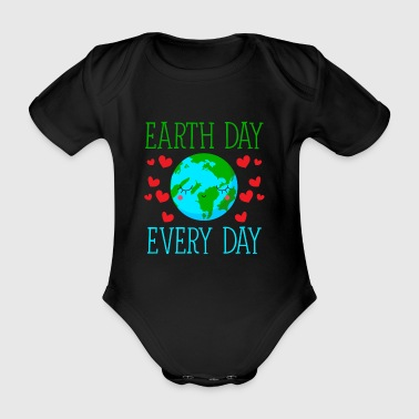Earth Day Every Day - Baby Bio-Kurzarm-Body