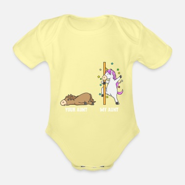 Aunt Unicorn horse your aunt my aunt gift EN - Organic Short-Sleeved Baby Bodysuit