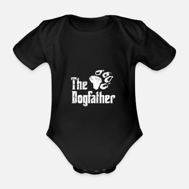 Vaderdag Father's Day Gift - The Dogfather's Parody Shirt - Baby bio-rompertje met korte mouwen