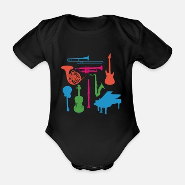 Musical Instrument Musical Instruments - Organic Short-Sleeved Baby Bodysuit