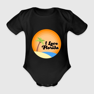 Florida - Organic Short-sleeved Baby Bodysuit