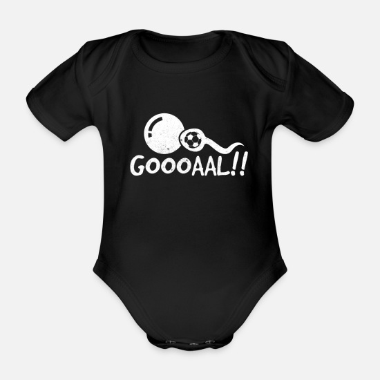 Pregnancy Baby Clothes - Gooooal Funny Pregnancy Announcement Shirt Goal - Organic Short-Sleeved Baby Bodysuit black