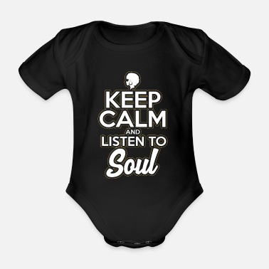 Soul Music Music Funk Soul Music Keep Calm - Organic Short-Sleeved Baby Bodysuit