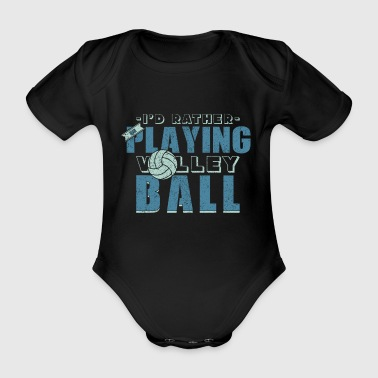 Volleyball Beachvolleyball Sport Strand Sportler - Baby Bio-Kurzarm-Body