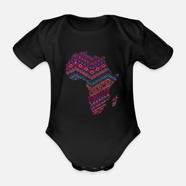 Cute Country T Africa Map - African Pride Traditional Ethnic - Baby Bio Kurzarmbody