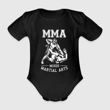 Mma MMA Fighter Ground en Pound - MMA-shirt - Baby bio-rompertje met korte mouwen