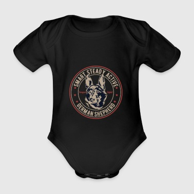 German Shepherd - German Shepherd - Organic Short-sleeved Baby Bodysuit