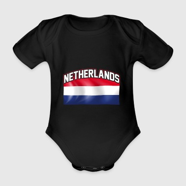 Netherlands flag nation Dutch country - Organic Short-sleeved Baby Bodysuit