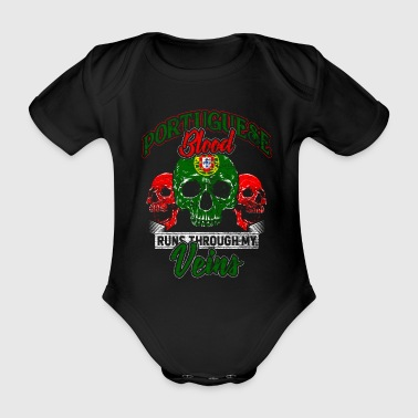 Portugal Lisbon Porto Portuguese beach blood - Organic Short-sleeved Baby Bodysuit