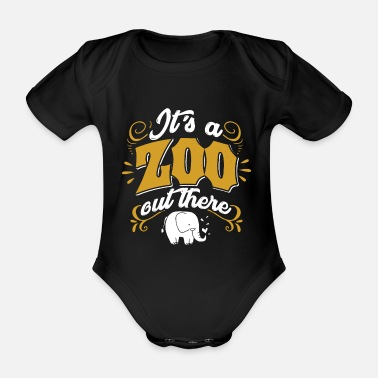 Zoo Animal Zoo Zoo Animal Zoology Zoo Animal Keeper - Organic Short-Sleeved Baby Bodysuit