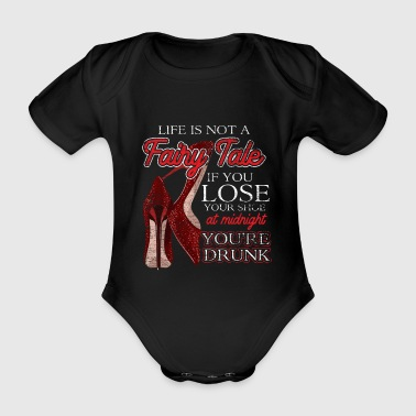 Fairytale Shoes Princess Midnight Drunk - Organic Short-sleeved Baby Bodysuit