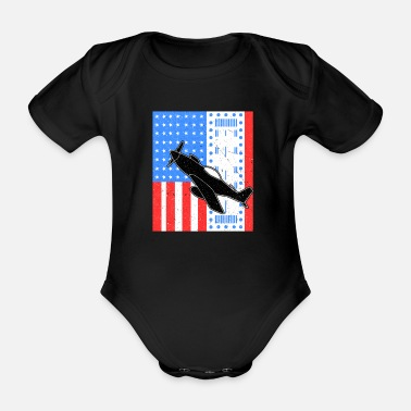 Jet Avion Avion Jet Jet Fighter USA Air Force - Body bébé bio manches courtes