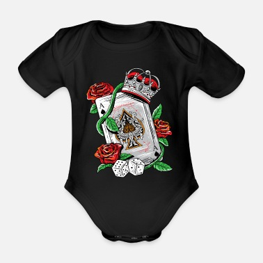Playing Ace of Spades Texas Holdem Poker Playing Card tee - Organic Short-Sleeved Baby Bodysuit