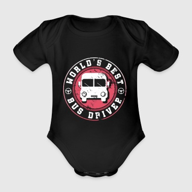 Worlds Best Bus Driver Funny Gift Family - Organic Short-sleeved Baby Bodysuit