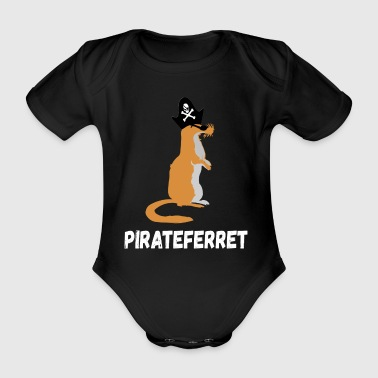 pirateferret - Organic Short-sleeved Baby Bodysuit