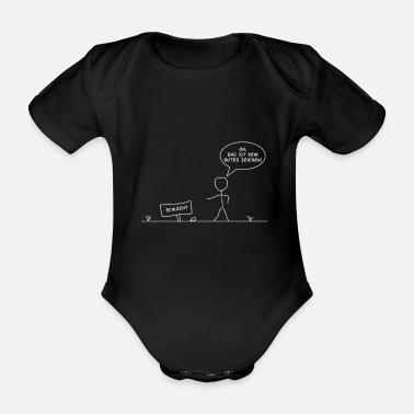Stick Figure stick figure - Organic Short-sleeved Baby Bodysuit