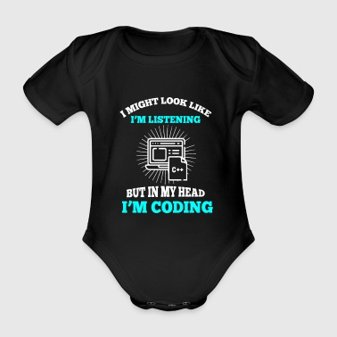Programmer coder - Organic Short-sleeved Baby Bodysuit