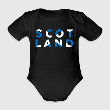 Schottland schottische Flagge Slogan Text Schrift - Baby Bio-Kurzarm-Body