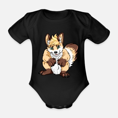 Furry Furry - Organic Short-Sleeved Baby Bodysuit
