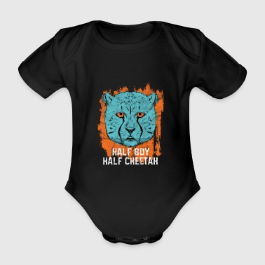 Animal Print Gift Cheetah - Organic Short-sleeved Baby Bodysuit