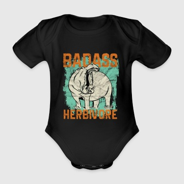 Safari Hippopotamus Wild Animal Gift - Organic Short-sleeved Baby Bodysuit