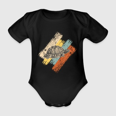 Turtle sea turtle reptile gift idea - Organic Short-sleeved Baby Bodysuit