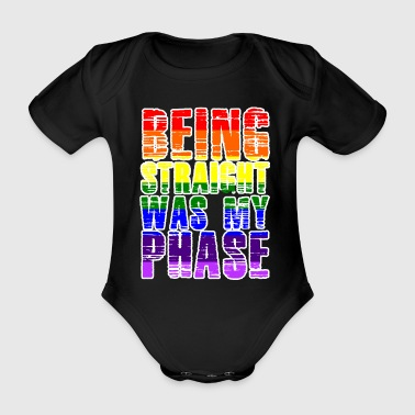 LGBT Lesbian Gay Pride Parade Bi Trans Queer Pan Dark - Organic Short-sleeved Baby Bodysuit