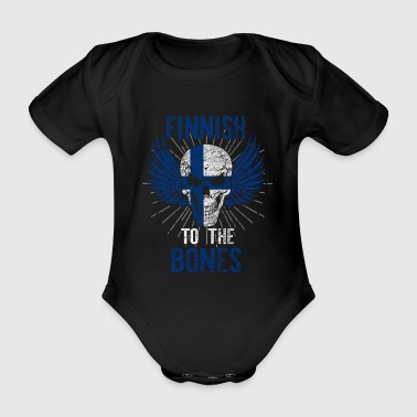 Finland Helsinki Finnish football - Organic Short-sleeved Baby Bodysuit