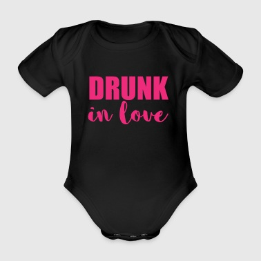 Hen Drunk In Love - Married - Baby Bio-Kurzarm-Body