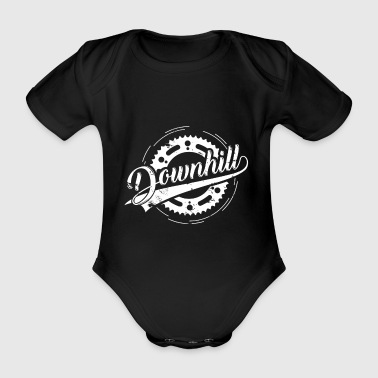 Downhill Sprocket Gift Bicycle Dirt - Organic Short-sleeved Baby Bodysuit