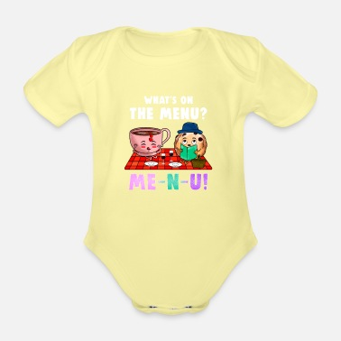 Meal Menu meal meal - Organic Short-Sleeved Baby Bodysuit
