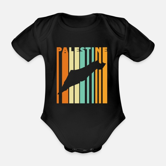 Gift Idea Baby Clothes - Palestine Palestinian homeland - Organic Short-Sleeved Baby Bodysuit black