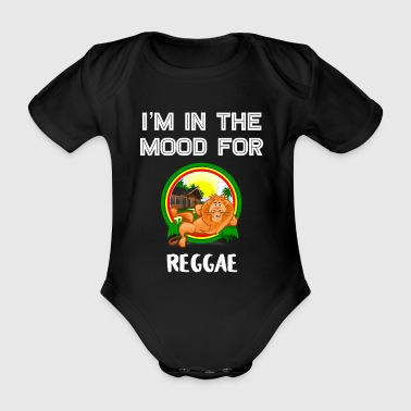 Rasta Vintage Reggae Gift for Jamaican Dub Roots Reggae Lovers - Organic Short-sleeved Baby Bodysuit