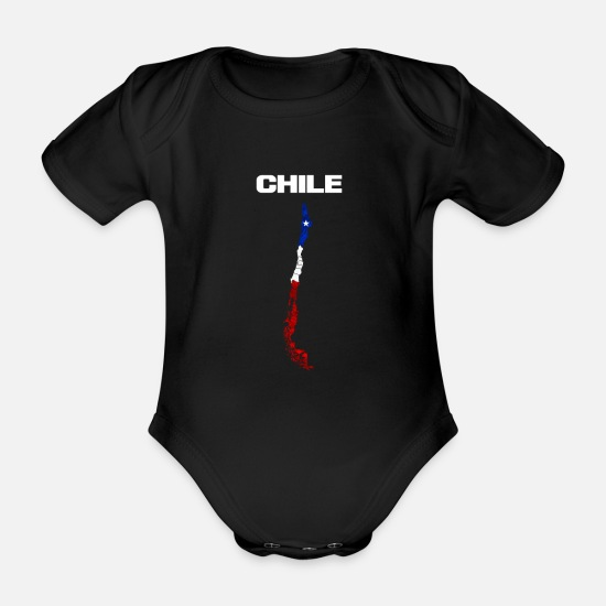 Gift Idea Baby Clothes - Chile - Organic Short-Sleeved Baby Bodysuit black