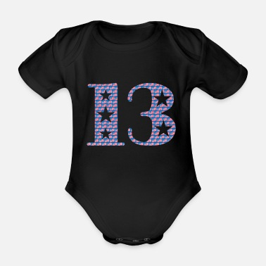 Lucky Number Lucky number 13 - Organic Short-Sleeved Baby Bodysuit