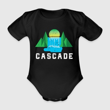Camp Vintage Cascades Mountain Retro National - Baby bio-rompertje met korte mouwen